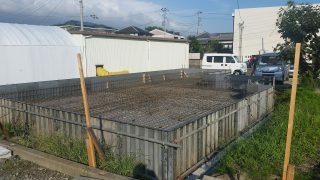 富士岡の家 基礎配筋工事
