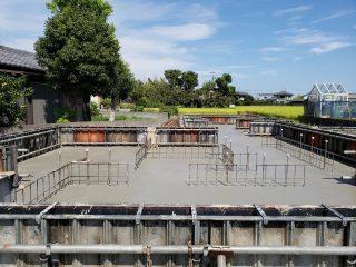 片岡の家 基礎コンクリート打設