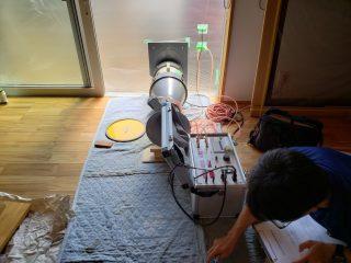 磐田市鎌田の家 完成時気密測定