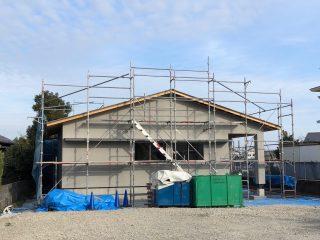 吉田町片岡の家 外壁左官工事