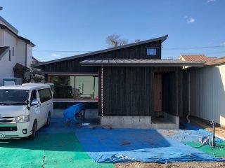 富士岡の家 外壁工事完了