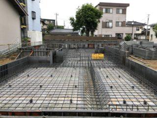 三島市大場の現場 基礎工事始まりました