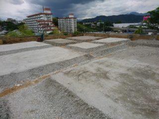 清水区馬走北の家 基礎工事