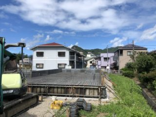 伊豆の国市三福の平屋 配筋工事スタート