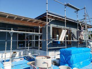 伊豆の国市三福の平屋 外壁工事