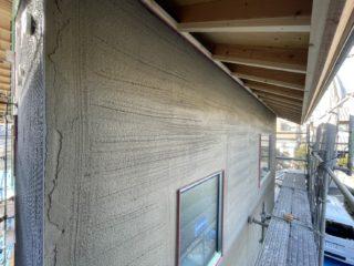 伝法の家 外壁工事中