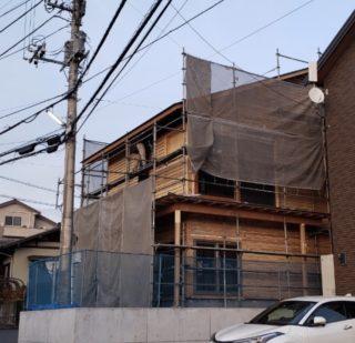 伝法の家 外部木工工事