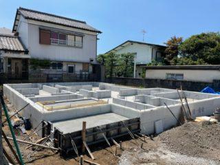 富士市厚原の家 基礎工事完成