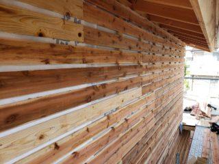 富士市厚原の家 外壁工事中